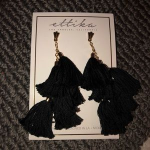 Ettika Daydreamer tassel earrings.